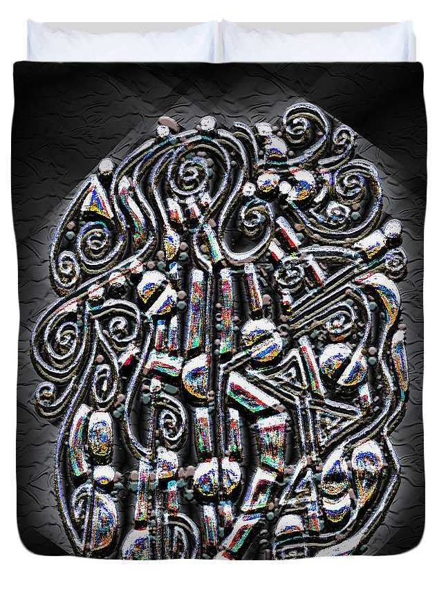 Surrealism Duvet Cover featuring the digital art Gate To Mystery by Mark Sellers