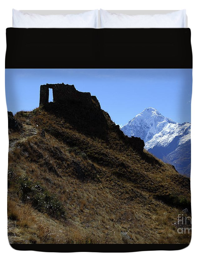 Peru Duvet Cover featuring the photograph Gateway To The Gods 1 by James Brunker