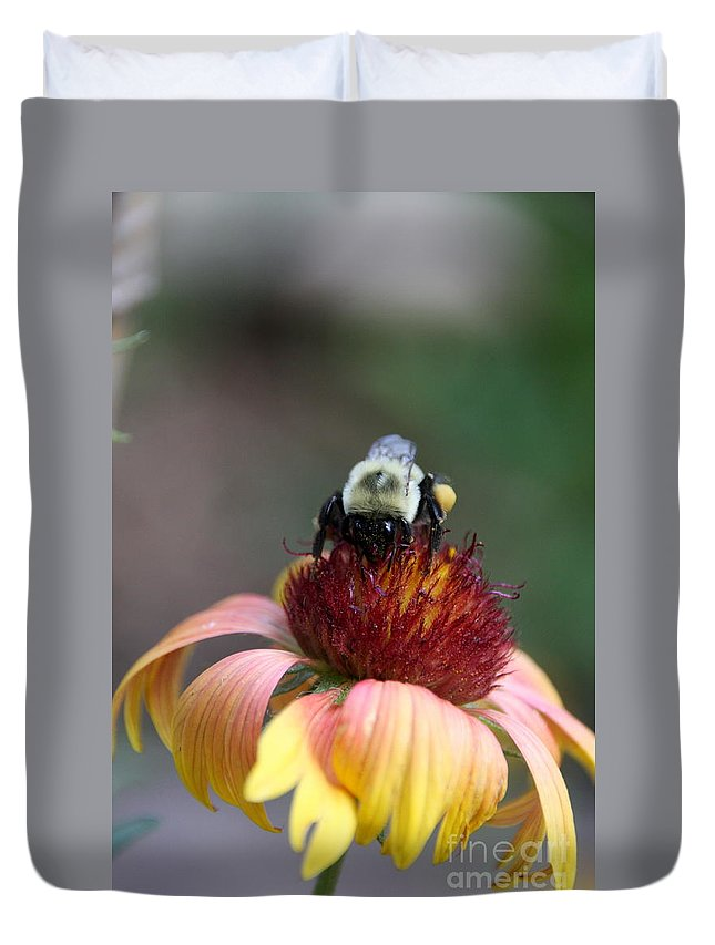 Bee Duvet Cover featuring the photograph Gatherer by Wendy Coulson