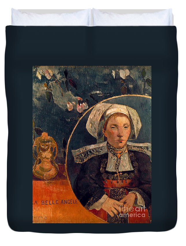 1889 Duvet Cover featuring the photograph Gaugin: Belle Angele, 1889 by Granger