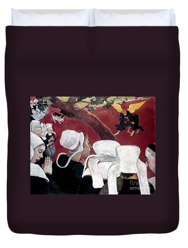 1888 Duvet Cover featuring the photograph Gaugin: Vision, 1888 by Granger