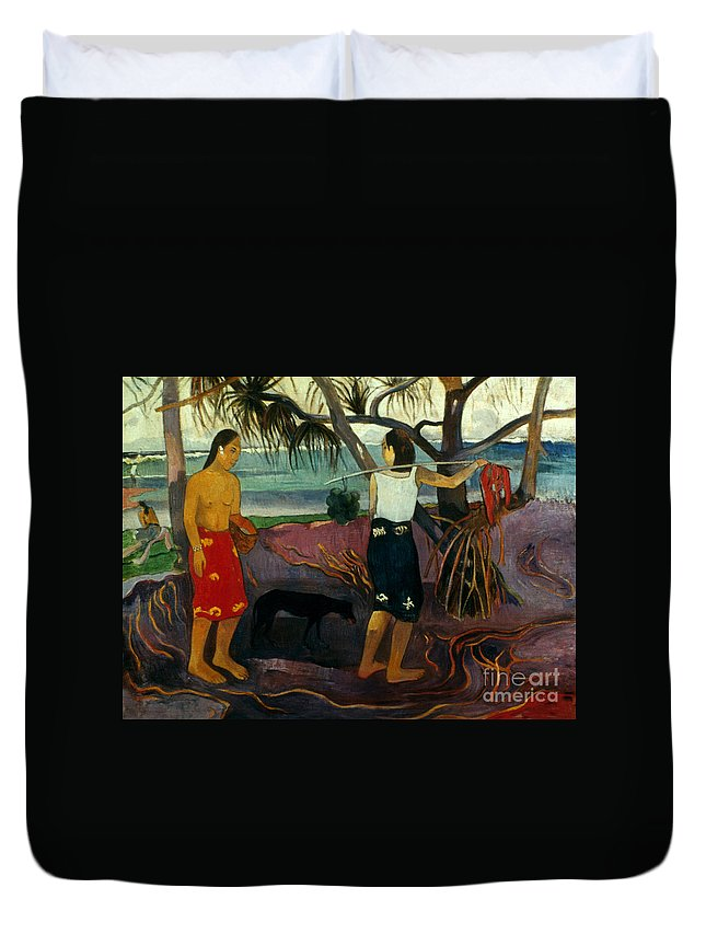 1891 Duvet Cover featuring the photograph Gauguin: Pandanus, 1891 by Granger