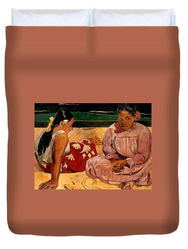1891 Duvet Cover featuring the photograph Gauguin: Tahiti Women, 1891 by Granger