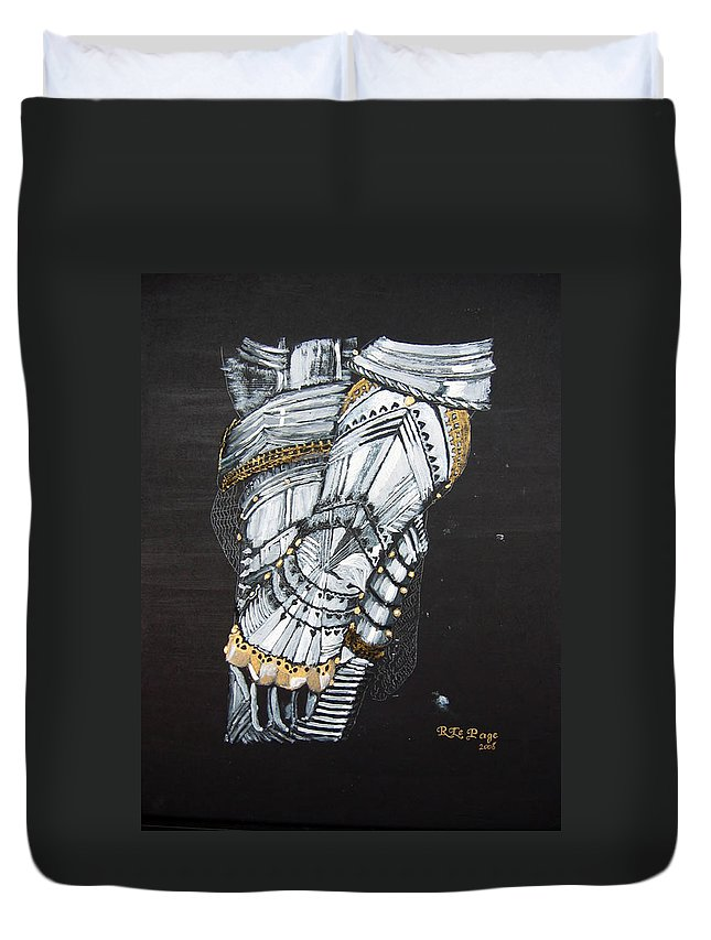 Arm Armor Duvet Cover featuring the painting Gaunlet by Richard Le Page