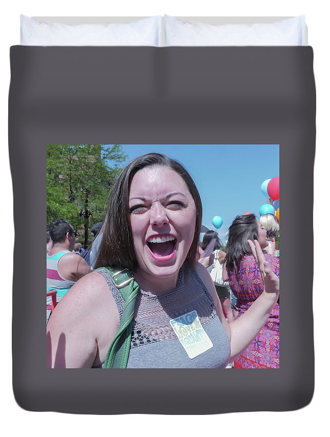 Pride Duvet Cover featuring the photograph Gay Pride Parade 3 by Billy Joe