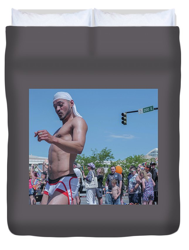 Gay Pride Duvet Cover featuring the photograph Gay Pride by Billy Joe