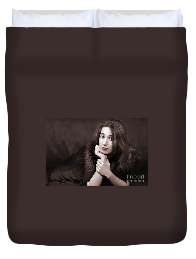 Clay Duvet Cover featuring the photograph Gaze by Clayton Bruster