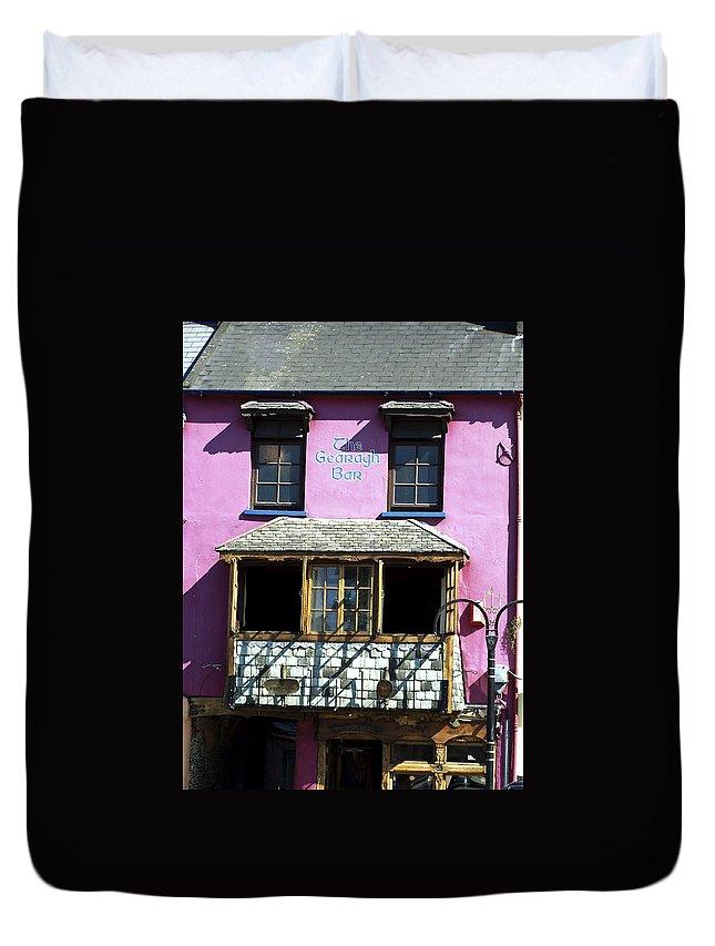 Irish Duvet Cover featuring the photograph Gearagh Pub In Macroom Ireland by Teresa Mucha