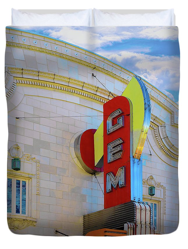 Gem Theater Duvet Cover featuring the photograph Gem Theater by L Wright
