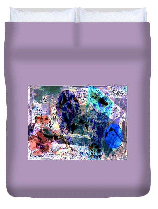 Abstract Duvet Cover featuring the photograph Gems Of Ice by Seth Weaver