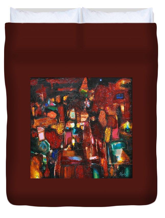 Ignatenko Duvet Cover featuring the painting Gems by Sergey Ignatenko