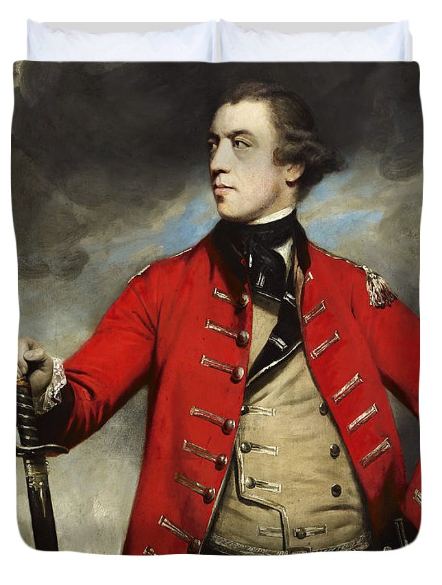 Painting Duvet Cover featuring the painting General John Burgoyne by Mountain Dreams