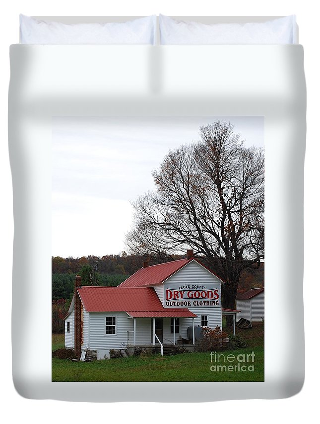 Landscape Duvet Cover featuring the photograph General Store by Eric Liller