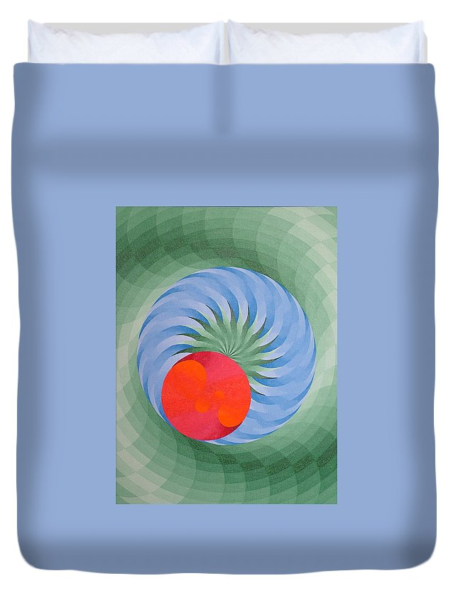 Oil Duvet Cover featuring the painting Genesis 3 by Peter Antos