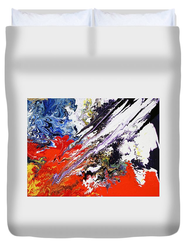 Fusionart Duvet Cover featuring the painting Genesis by Ralph White