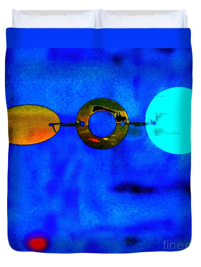 Abstract Duvet Cover featuring the photograph Genisis 3 by Deb Cohen