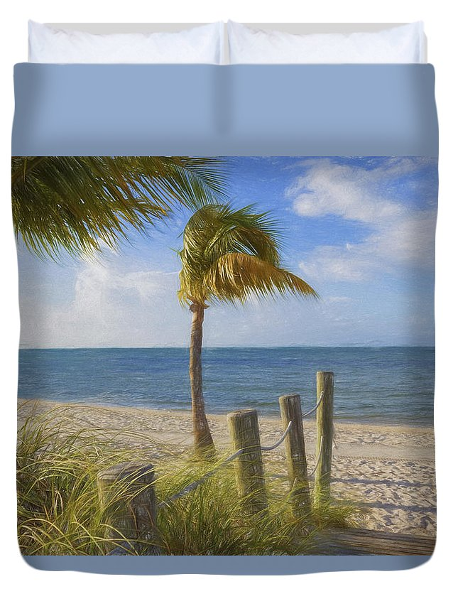 Smathers Beach Duvet Cover featuring the photograph Gentle Breeze At The Beach by Kim Hojnacki