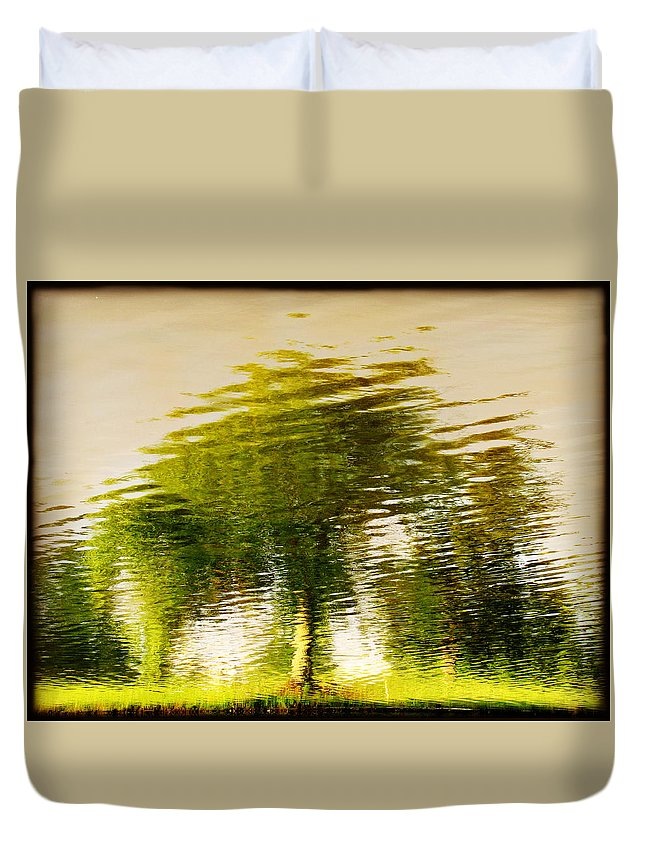 Abstract Duvet Cover featuring the photograph Gentle Sun by Dana DiPasquale
