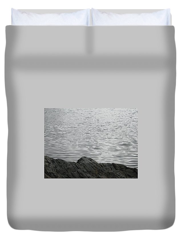 Water Duvet Cover featuring the photograph Gentle Waters by Kelly Mezzapelle