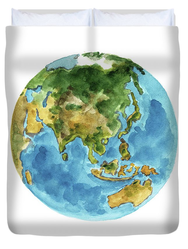 Planet Earth Colors Geography World Map Australia New Zealand