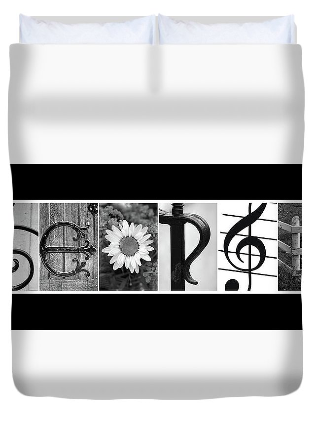 Name Duvet Cover featuring the photograph George Alphabet Art by Kathy Stanczak