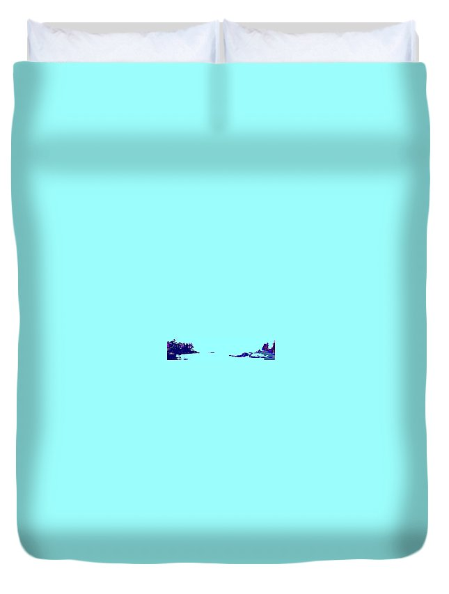 Duvet Cover featuring the photograph Georgian Bay Blue by Ian MacDonald