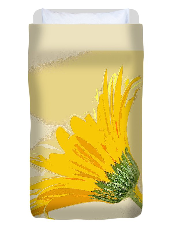 Daisy Duvet Cover featuring the photograph Gerbera Abstract by Bill Morgenstern