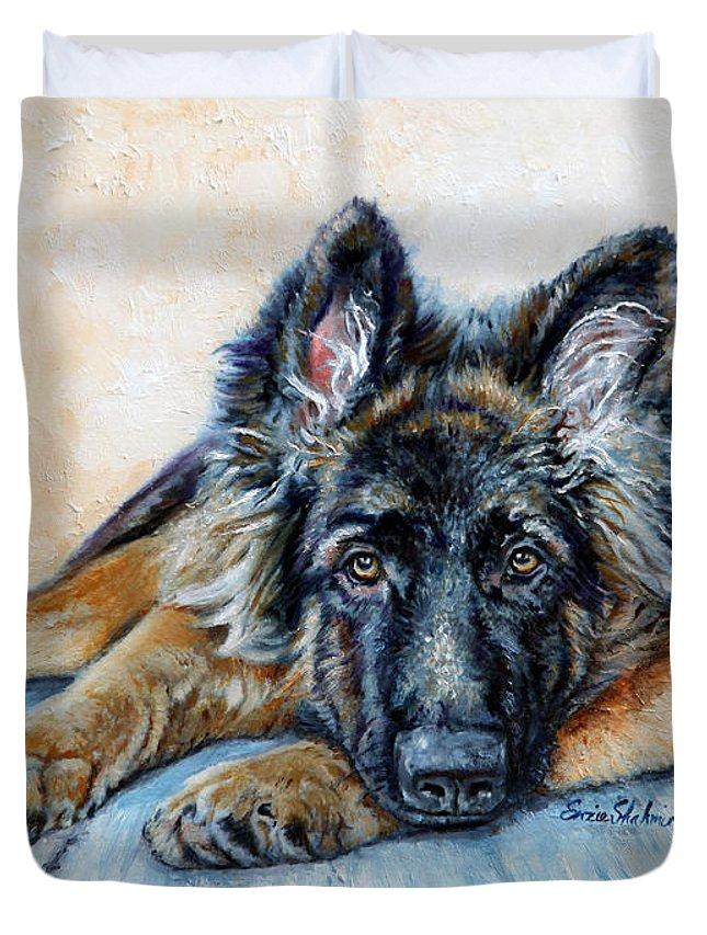 german shepherd quilt cover