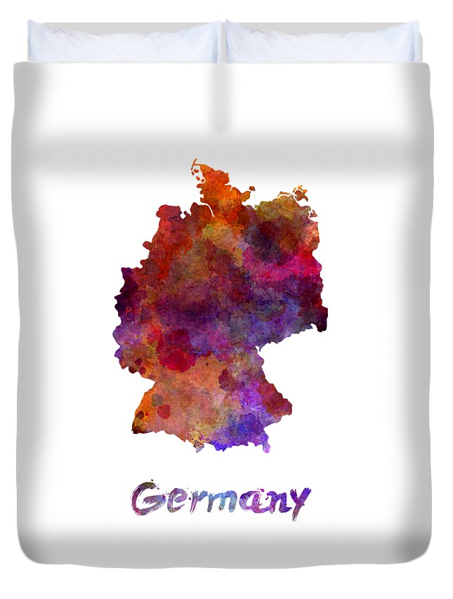 Germany Duvet Cover featuring the painting Germany In Watercolor by Pablo Romero