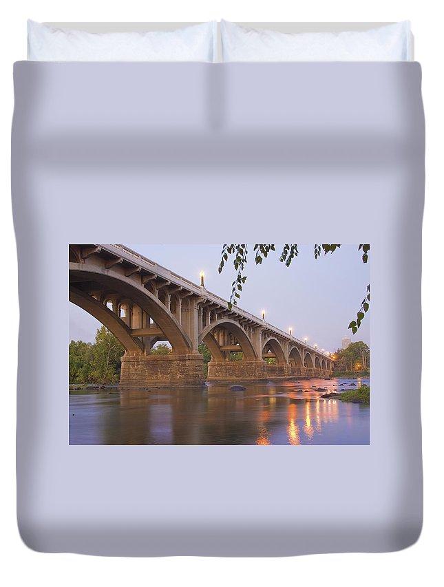 Gervais Bridge Duvet Cover featuring the photograph Gervais Bridge by Steven Richardson