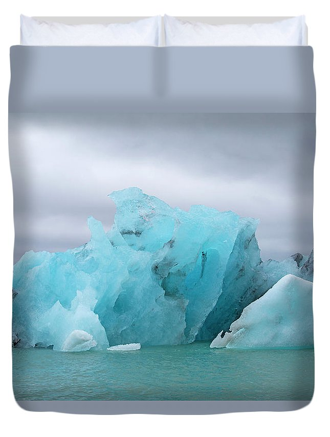 Iceland Duvet Cover featuring the photograph Get Inspired Glacier Lagoon by Betsy Knapp