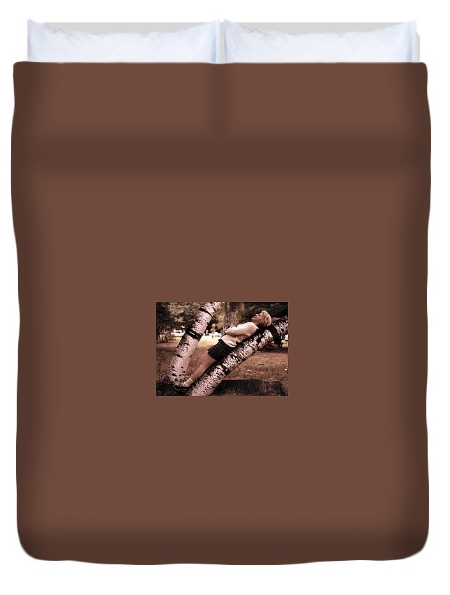Birch Duvet Cover featuring the photograph Get Perspective by JAMART Photography