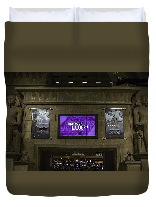 2015 Duvet Cover featuring the photograph Get Your Lux On by Teresa Mucha
