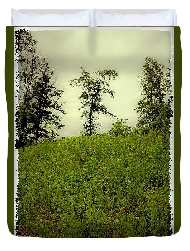 Landscape Duvet Cover featuring the photograph Gettysburg Landscape by Madeline Ellis