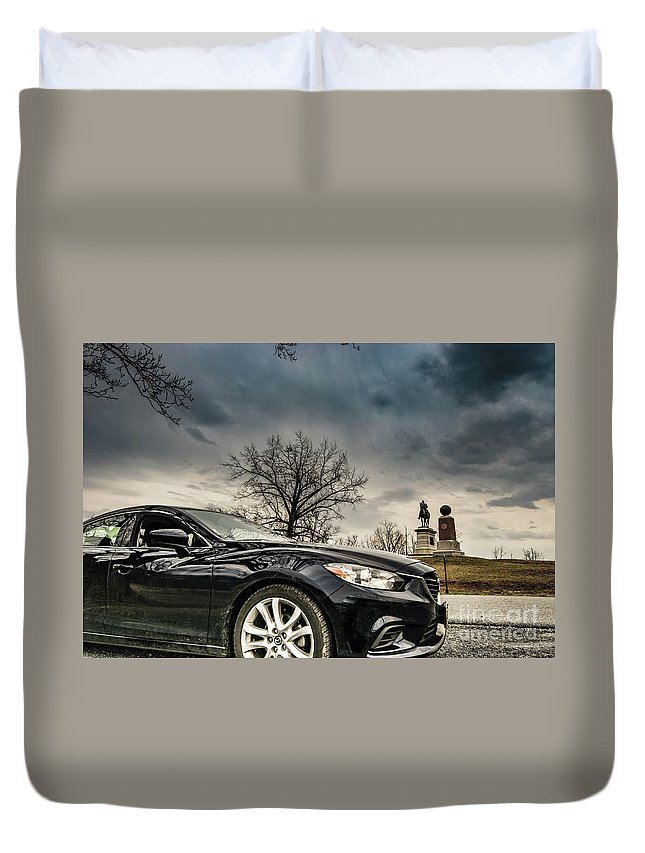 Car Duvet Cover featuring the photograph Gettysburg Zoom Zoom by C U Fotography