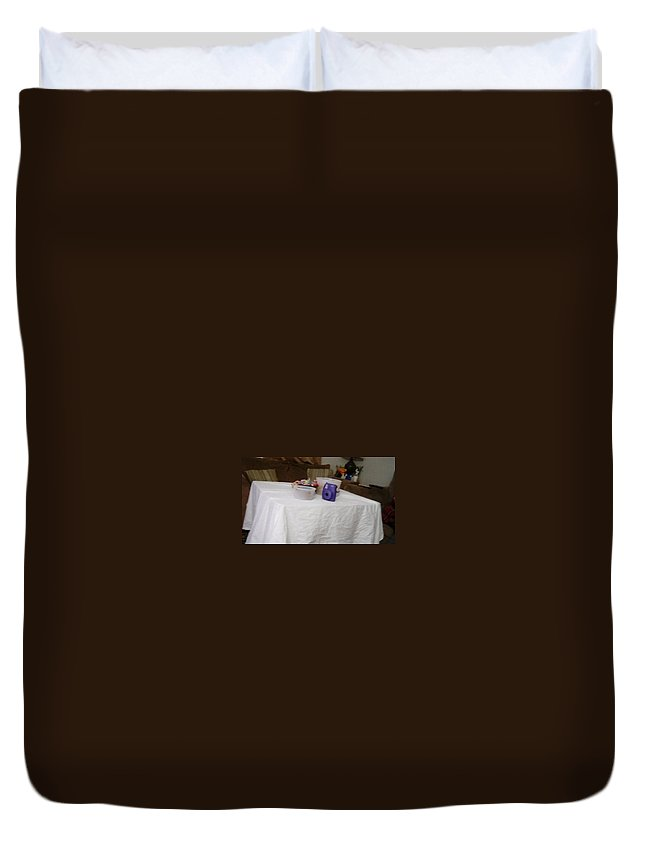 Duvet Cover featuring the photograph Ghost Food by Jamie Warren