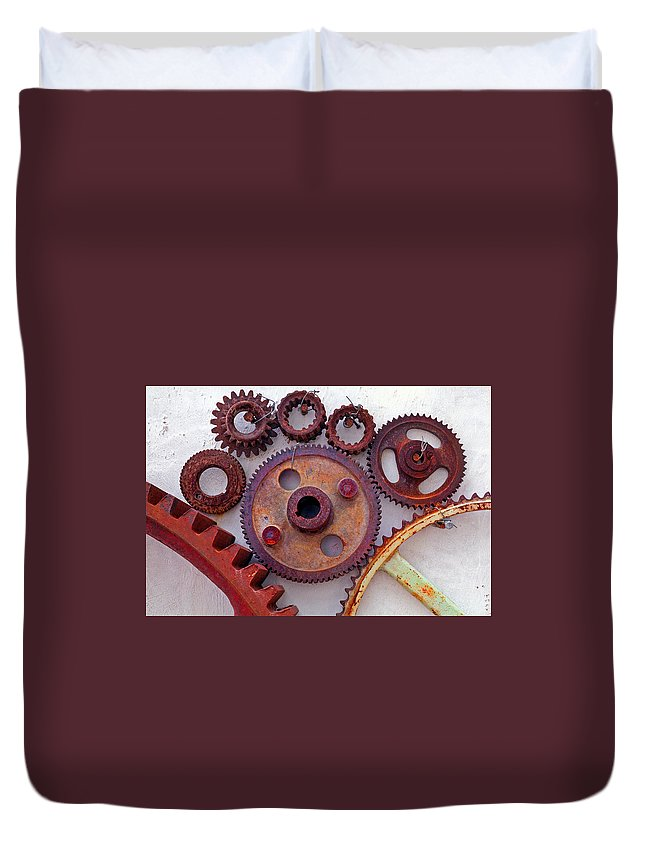 Gears Duvet Cover featuring the photograph Ghost by Skip Hunt
