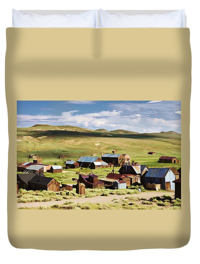 Bodie Duvet Cover featuring the photograph Ghost Town by Ricky Barnard