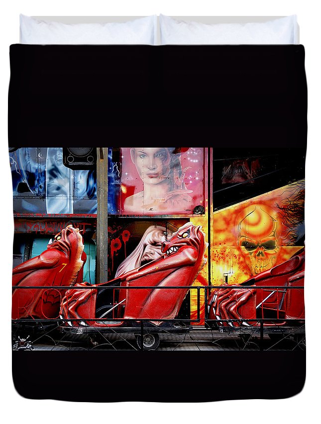 Ghost-train Duvet Cover featuring the photograph Ghost Train by Wayne Sherriff