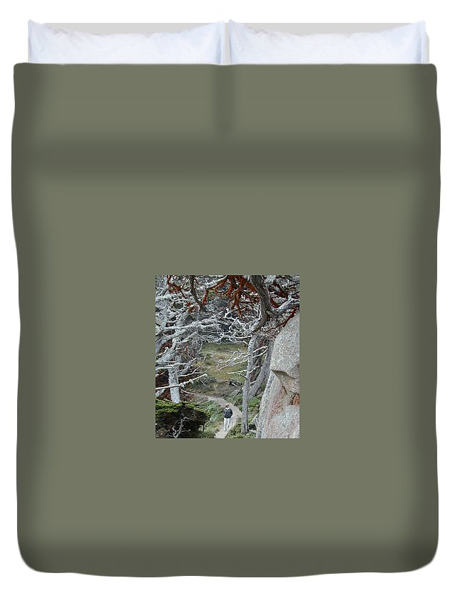 Lichens Duvet Cover featuring the photograph Ghost Trees by Douglas Barnett