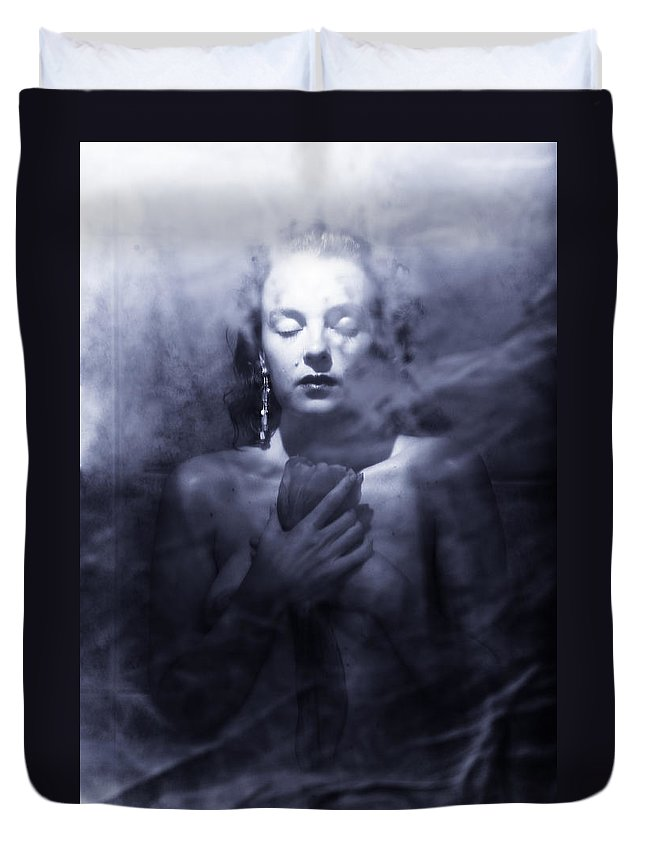 Woman Duvet Cover featuring the photograph Ghost Woman by Scott Sawyer