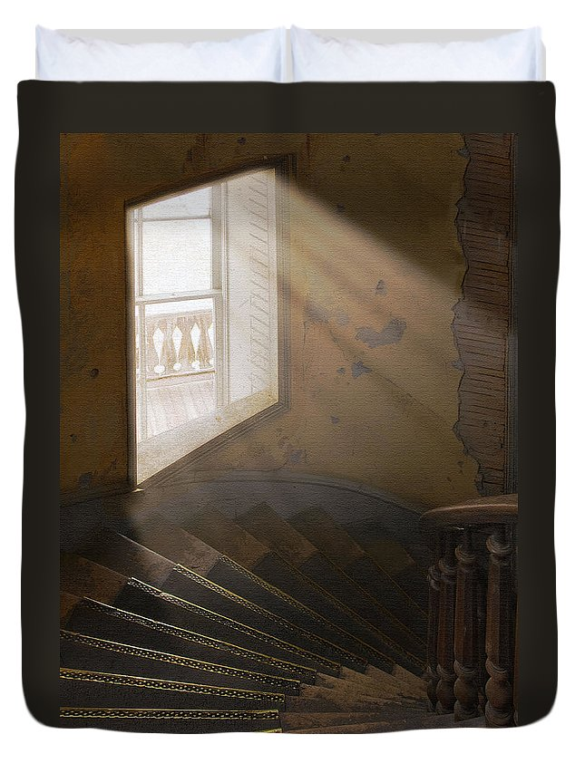 Architecture Duvet Cover featuring the photograph Ghostly Light by Sharon Foster