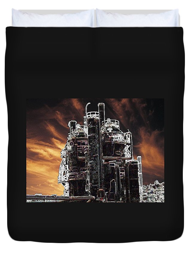 Seattle Duvet Cover featuring the photograph Ghosts Of Industy Past by Tim Allen