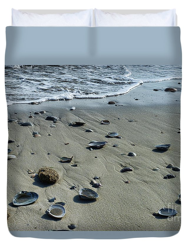 Paul Ward Duvet Cover featuring the photograph Gifts From The Ocean by Paul Ward