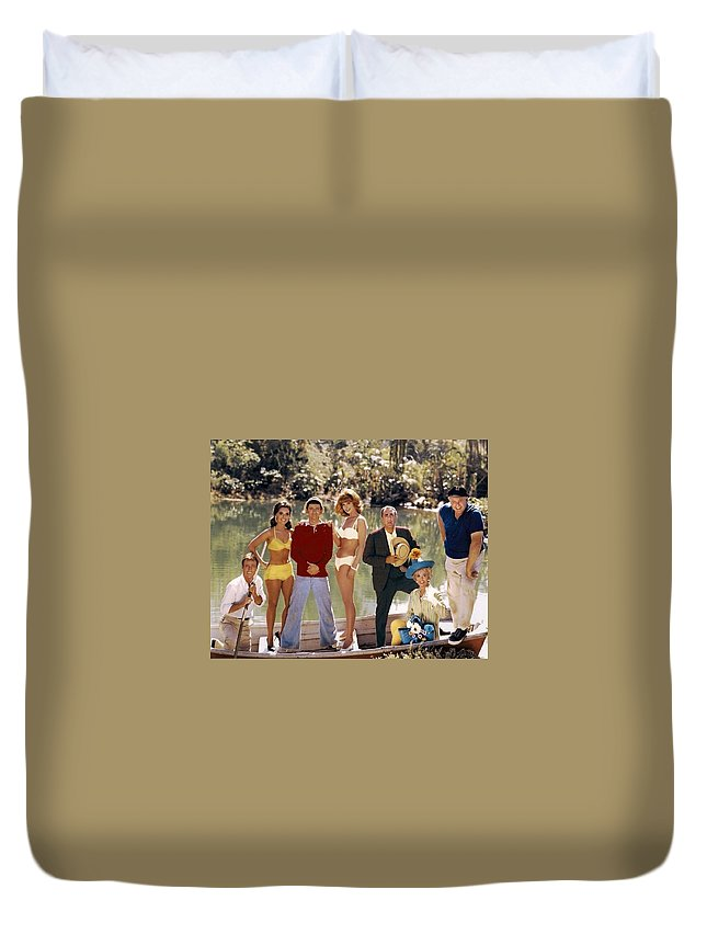 Gilligans Island Cast Duvet Cover featuring the photograph Gilligans Island Cast by Peter Nowell