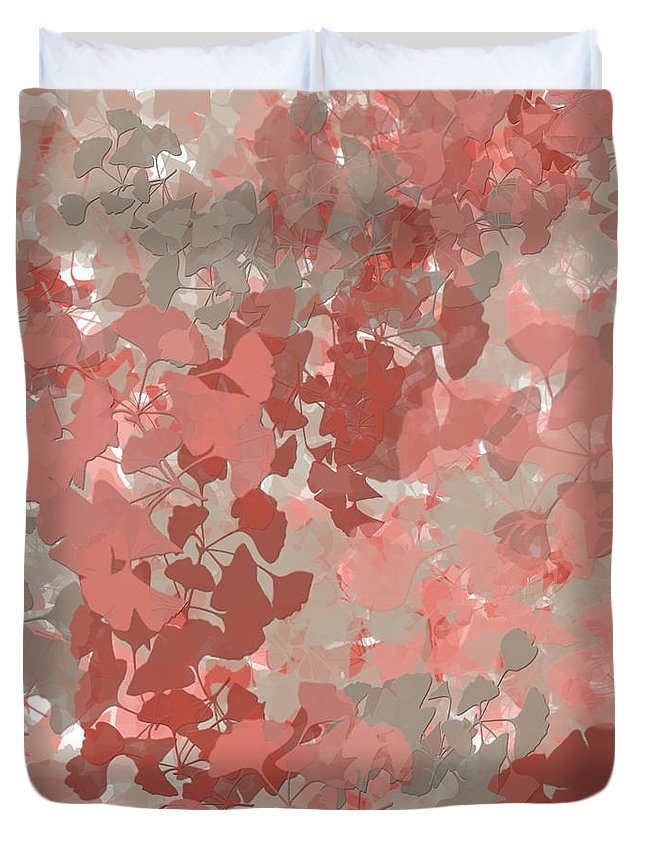 Ginkgo Leaves Duvet Cover featuring the painting Ginkgo Leaves by Bonnie Bruno
