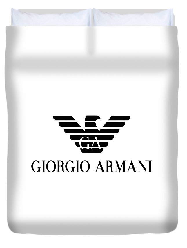 dca1b292c66e Armani Duvet Cover featuring the digital art Giorgio Armani Eagle Logo by  Traxex Gringer