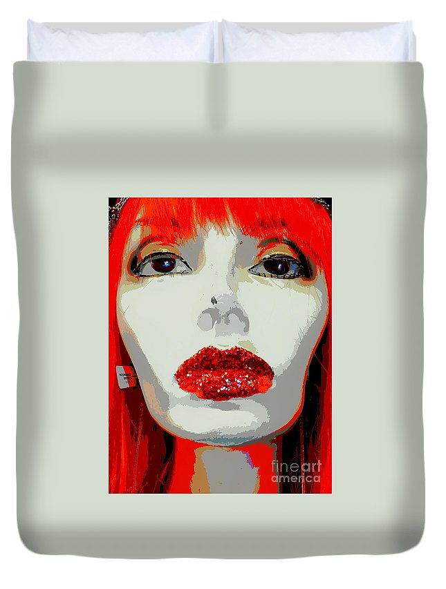 Mannequins Duvet Cover featuring the photograph Giovanna by Ed Weidman