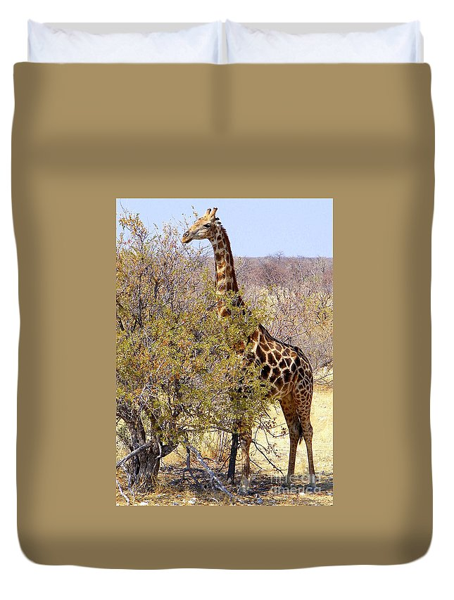 Most Popular Duvet Cover featuring the photograph Giraffe by Noa Yerushalmi