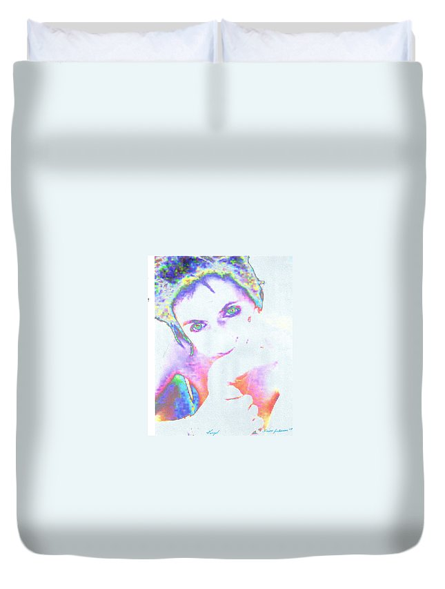 Portrate Of A French Girl Duvet Cover featuring the photograph Gisele by Dawn Johansen